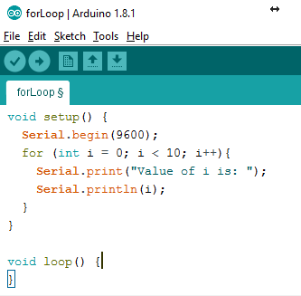 Arduino IDE: for Loop - STEMpedia