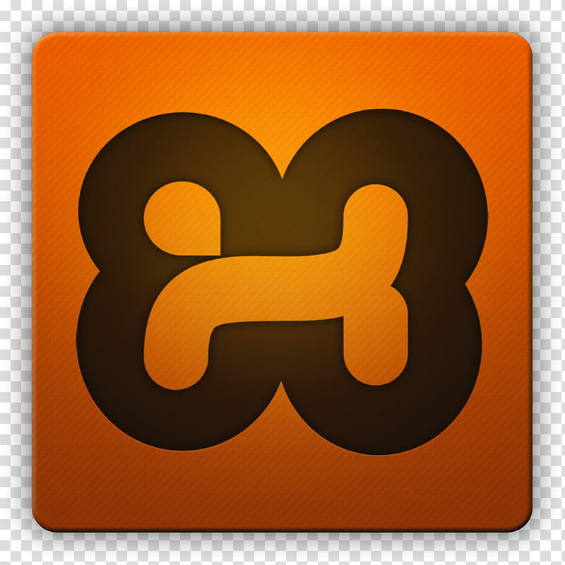 clean-hd-icon-ii-xampp-squircle-orange-and-black-icon-png-clipart
