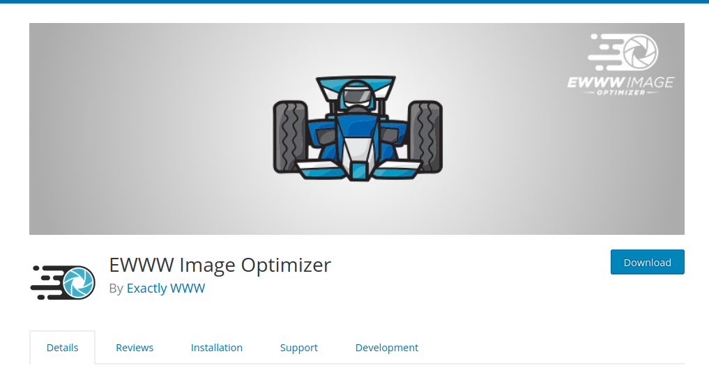 Cara menginstal Plugin Optimasi Gambar EWWW Image Optimizer di WordPress.