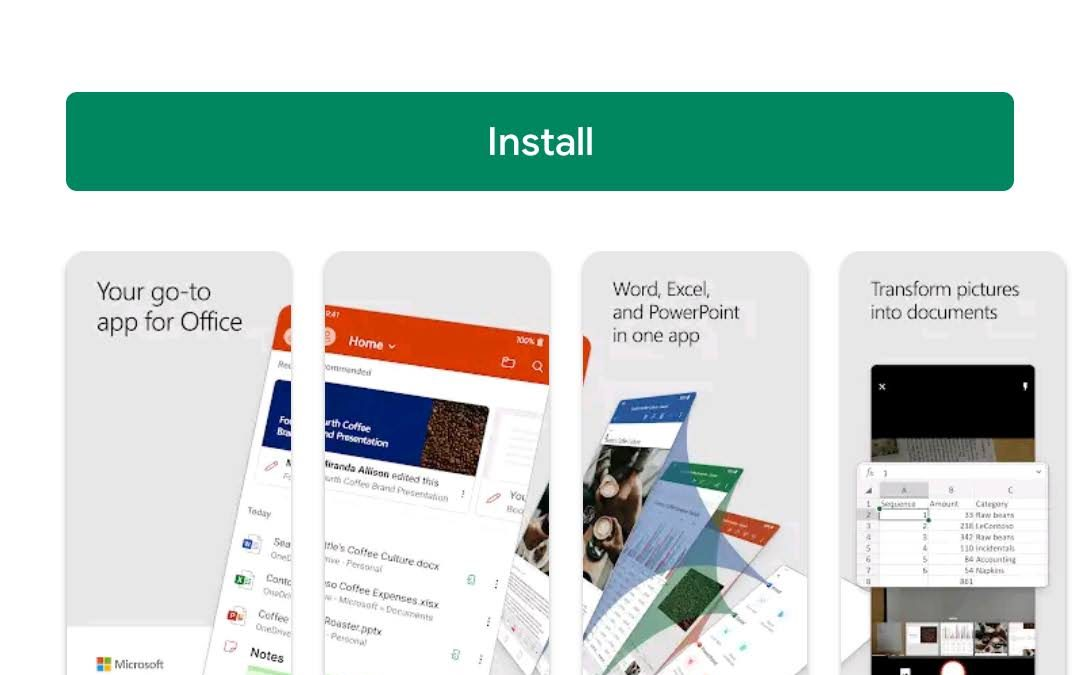 Cara install Microsoft Office All In One di Android